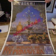 Carteles Feria: SEVILLA, 1987, CARTEL FIESTAS DE PRIMAVERA, 43X70 CMS. Lote 158506338