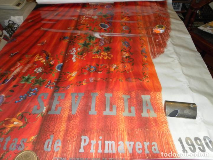 CARTEL FIESTAS PRIMAVERA SEVILLA 1990. MEDIDAS 135X93 CM. (Coleccionismo - Carteles Gran Formato - Carteles Ferias, Fiestas y Festejos)