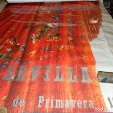 Carteles Feria: CARTEL FIESTAS PRIMAVERA SEVILLA 1990. MEDIDAS 135X93 CM. . Lote 162177790