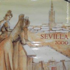 Affiches Foire: CARTEL FIESTAS DE PRIMAVERA DE SEVILLA SEMANA SANTA Y FERIA AÑO 2000. MEDIDAS 98X67 CM.. Lote 159161862