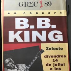 Affissi Fiera: CARTEL BB KING 1989 ZELESTE. Lote 159181810