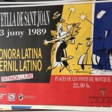 Carteles Feria: CARTEL REVETLLA SANT JOAN SONORA LATINA-PERNIL LATINO. Lote 159182238