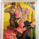 Carteles Feria: CARTEL ORIGINAL: SEVILLA FERIA DE ABRIL FIESTAS PRIMAVERALES 1949. Lote 160579430
