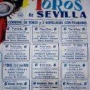 Carteles Feria: CARTEL ORIGINAL PLAZA DE TOROS DE SEVILLA – FERIA DE ABRIL 1949. Lote 160579970