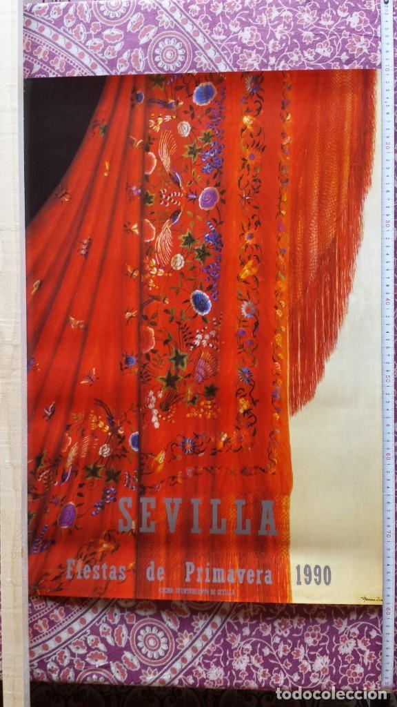CARTEL FIESTAS DE PRIMAVERA - SEVILLA, 1990 (Coleccionismo - Carteles Gran Formato - Carteles Ferias, Fiestas y Festejos)