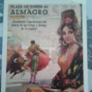 Carteles Feria: PLAZA TOROS ALMAGRO 1976. Lote 161336446