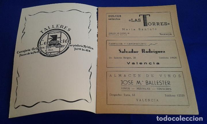 Carteles Feria: LLIBRET FALLA DR.SANCHIS BERGON-TURIA 1956 - Foto 2 - 162008990