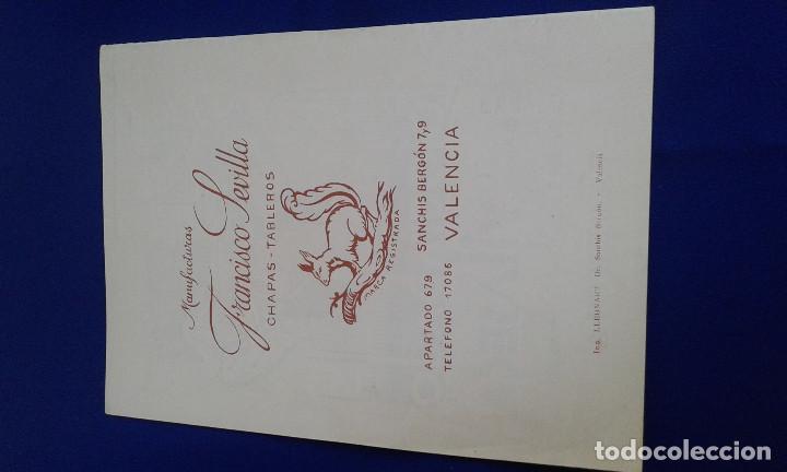 Carteles Feria: LLIBRET FALLA DR.SANCHIS BERGON-TURIA 1956 - Foto 4 - 162008990