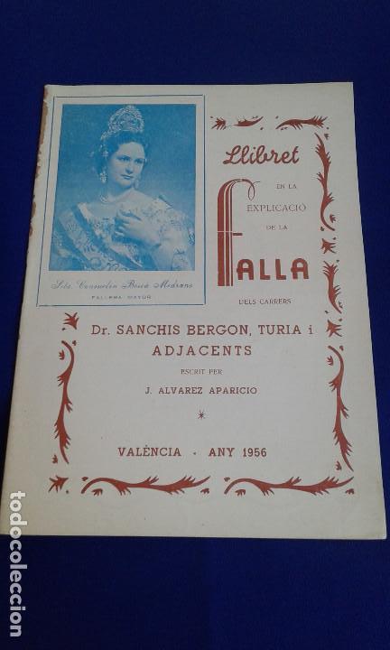 LLIBRET FALLA DR.SANCHIS BERGON-TURIA 1956 (Coleccionismo - Carteles Gran Formato - Carteles Ferias, Fiestas y Festejos)