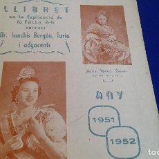 Carteles Feria: LLIBRET DR.SANCHIS BERGON- TURIA 1951. Lote 162012958