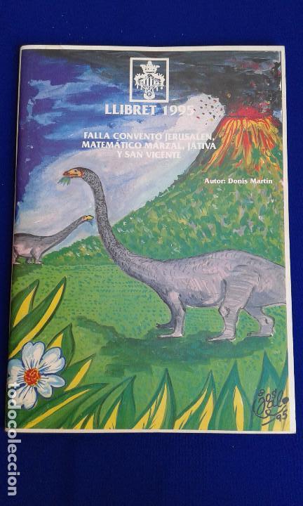 Carteles Feria: LLIBRET FALLA CONVENTO JERUSALEN-MATEMATICO MARZAL 1995 - Foto 6 - 162108254