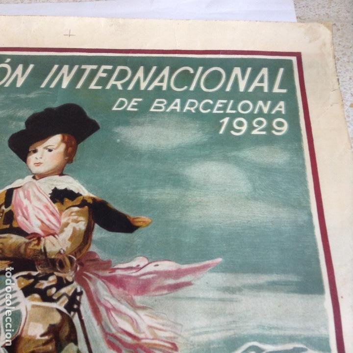 Carteles Feria: EL ARTE EN ESPAÑA EXPOSICIÓN INTERNACIONAL DE BARCELONA 1929 CARTEL LITOGRAFICO - Foto 3 - 164825746