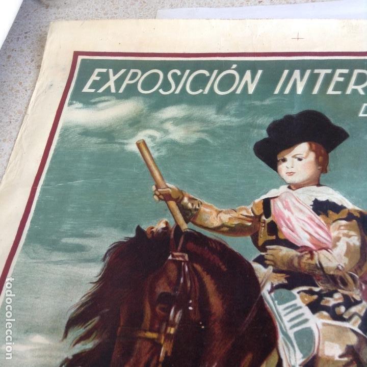 Carteles Feria: EL ARTE EN ESPAÑA EXPOSICIÓN INTERNACIONAL DE BARCELONA 1929 CARTEL LITOGRAFICO - Foto 4 - 164825746