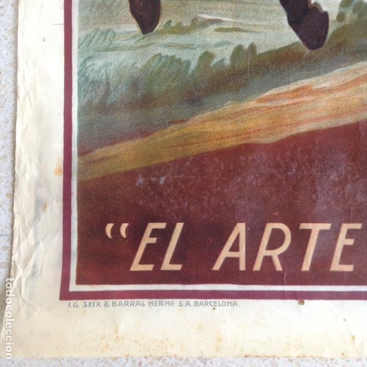 Carteles Feria: EL ARTE EN ESPAÑA EXPOSICIÓN INTERNACIONAL DE BARCELONA 1929 CARTEL LITOGRAFICO - Foto 5 - 164825746