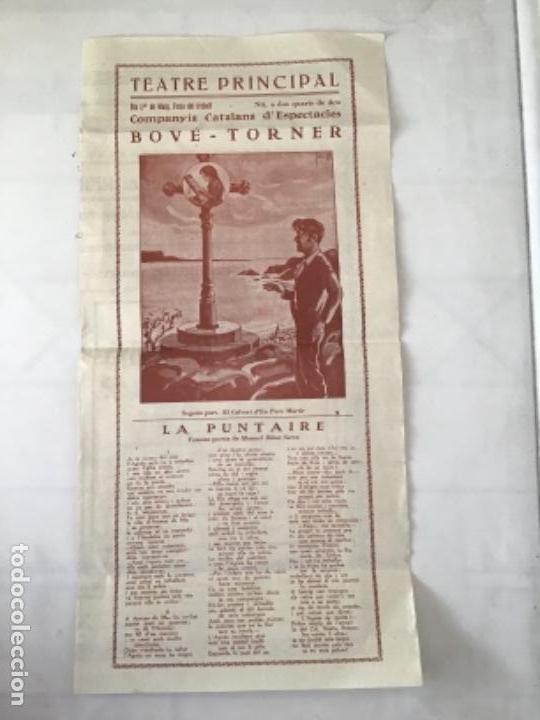 Carteles Feria: CARTEL TEATRE PRINCIPAL DE VILAFRANCA DEL PENEDÈS, LA PUNTAIRE 1930'S. - Foto 2 - 164888122