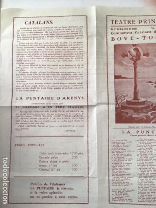Carteles Feria: CARTEL TEATRE PRINCIPAL DE VILAFRANCA DEL PENEDÈS, LA PUNTAIRE 1930'S. - Foto 3 - 164888122