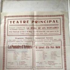 Carteles Feria: CARTEL TEATRE PRINCIPAL DE VILAFRANCA DEL PENEDÈS, LA PUNTAIRE 1930'S. . Lote 164888122
