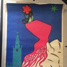 Carteles Feria: CARTEL FERIA DE SEVILLA 1964 - TAMAÑO 68 X 44,5 CMS. . Lote 165247538