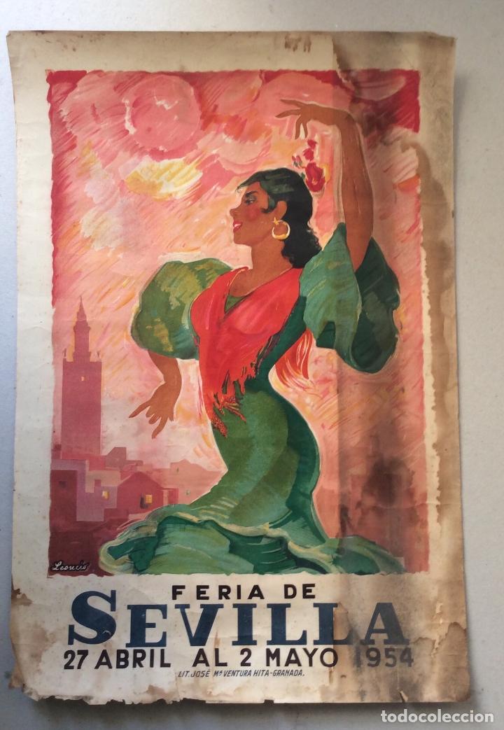 CARTEL FERIA SEVILLA 1964,MEDIDA 47X33 CM (Coleccionismo - Carteles Gran Formato - Carteles Ferias, Fiestas y Festejos)