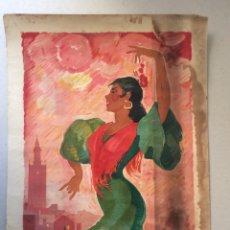 Carteles Feria: CARTEL FERIA SEVILLA 1964,MEDIDA 47X33 CM. Lote 165250890