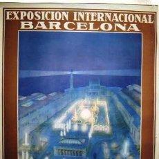 Carteles Feria: CARTEL ORIGINAL EXPOSICION INTERNACIONAL BARCELONA. MAYO- DICIEMBRE 1929. RIEUSSET. S.A.. Lote 165410262