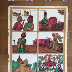 Carteles Feria: CARTEL FIESTAS DE SAN ISIDRO 1969. Lote 165750374