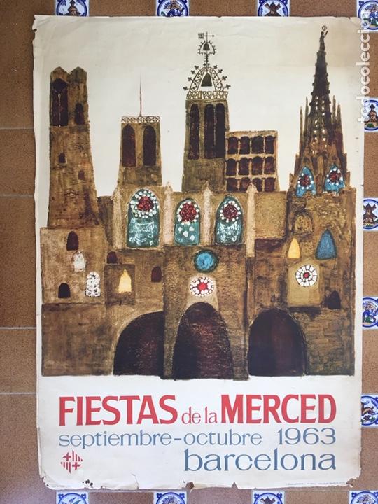 Carteles Feria: Antiguo Cartel Día de la Merced año 1963 - Foto 2 - 165753710