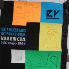 Carteles Feria: CARTEL FERIA MUESTRARIO VALENCIA 1964 , SALON LA CERAMICA , PEREZ , PINTURA ORIGINAL PINTADO A MANO. Lote 166137778