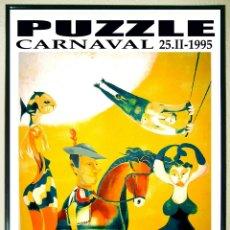 Carteles Feria: CARTEL DE DISCOTECA - PUZZLE - AÑO 1995 - FIESTAS CARNAVAL 70X 50 CMS. Lote 167554924