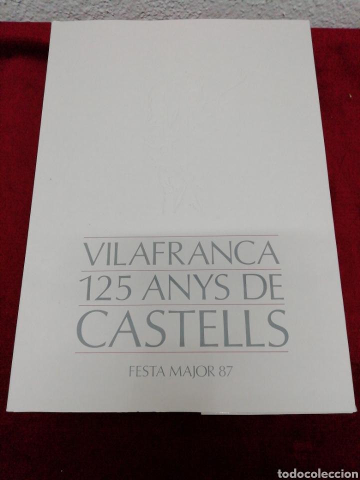VILAFRANCA 125 ANYS DE CASTELLES. FESTA MAJOR 87. FOLLETO EXPLICATIVO Y 20 LÁMINAS. (Coleccionismo - Carteles Gran Formato - Carteles Ferias, Fiestas y Festejos)