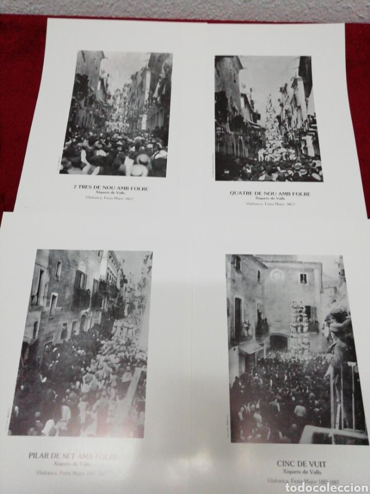 Carteles Feria: Vilafranca 125 anys de Castelles. Festa Major 87. Folleto explicativo y 20 láminas. - Foto 3 - 168547112