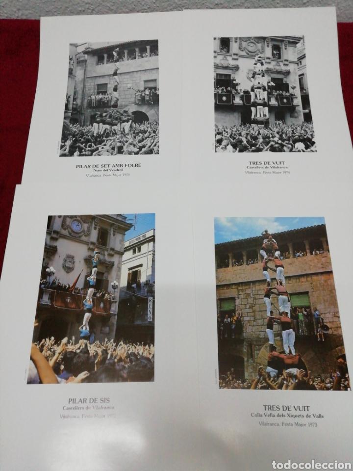 Carteles Feria: Vilafranca 125 anys de Castelles. Festa Major 87. Folleto explicativo y 20 láminas. - Foto 5 - 168547112