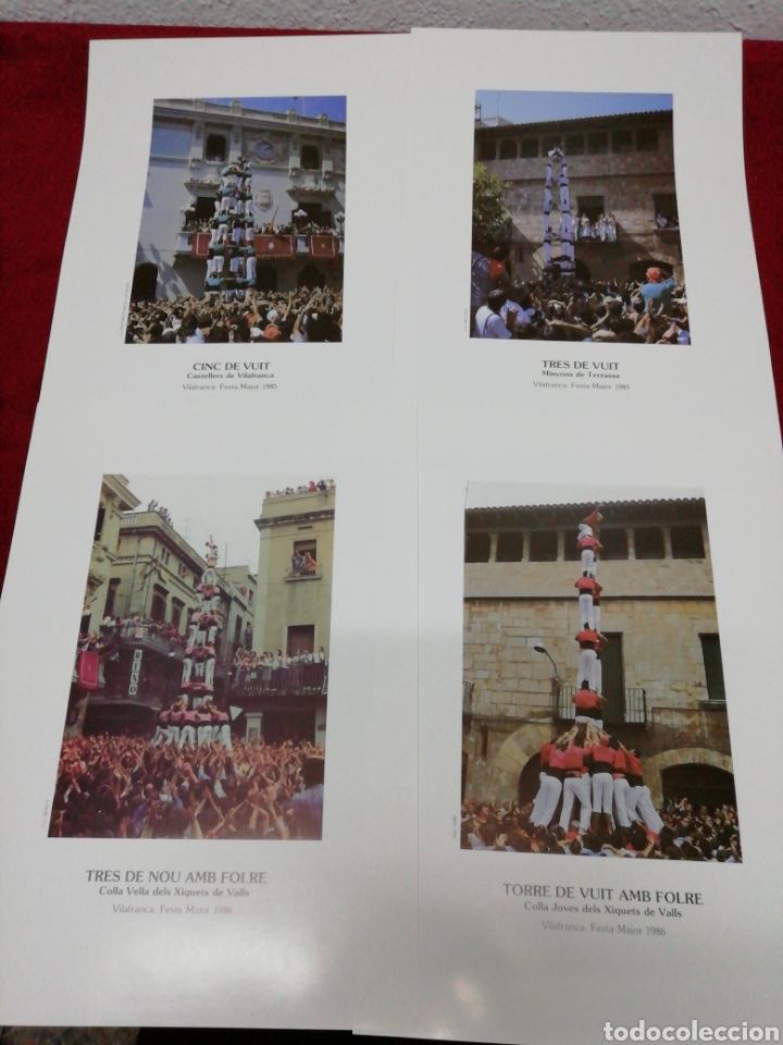 Carteles Feria: Vilafranca 125 anys de Castelles. Festa Major 87. Folleto explicativo y 20 láminas. - Foto 7 - 168547112