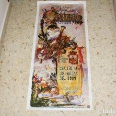 Affissi Fiera: CARTEL ORIGINAL CARNAVAL DE CADIZ 1984 - GRAN TAMAÑO: 99X45. Lote 168811244