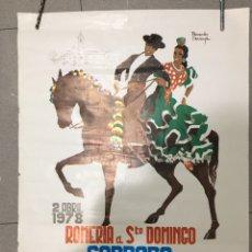 Carteles Feria: CARTEL ROMERÍA DE SANTO DOMINGO DE CORDOBA, 1978, MEDIDAS 46 X 63 CM. Lote 169043278