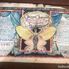 Carteles Feria: ANTIGUO CARTEL CREDITO GADITANO PINTADO A MANO - MEDIDA 45X30 CM - CADIZ. Lote 169279240