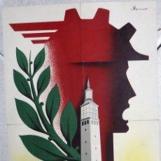 Cartazes Feira: CARTEL XVII FERIA MUESTRARIO ZARAGOZA , 1957 , MEDIANO , LITOGRAFIA ,ORIGINAL. Lote 169427148