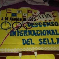 Carteles Feria: ANTIGUO POSTER DE DESCENSO INTERNACIONAL DE SELLA FIESTAS DE LAS PIRAGUAS ARRIONAS RIBADESELLA 1975. Lote 169703180
