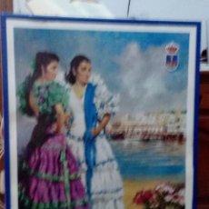 Carteles Feria: CARTEL. FERIA DE PRIMAVERA. EL PUERTO DE SANTA MARIA. CADIZ. SIN EL MARCO. 1989. . Lote 170003224