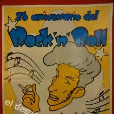 Affissi Fiera: LOS REBELDES. CARTEL 25 ANIVERSARIO DEL ROCK N´ROLL (43 X 32 CTMS). Lote 170108236