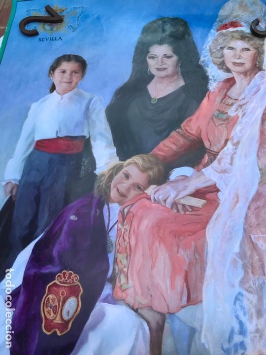 Carteles Feria: CARTEL DE LAS FIESTAS DE LA PRIMAVERA 2010 SEVILLA - DUQUESA DE ALBA Y JUANA REINA - MEDIDAS 95X68 C - Foto 3 - 170439056