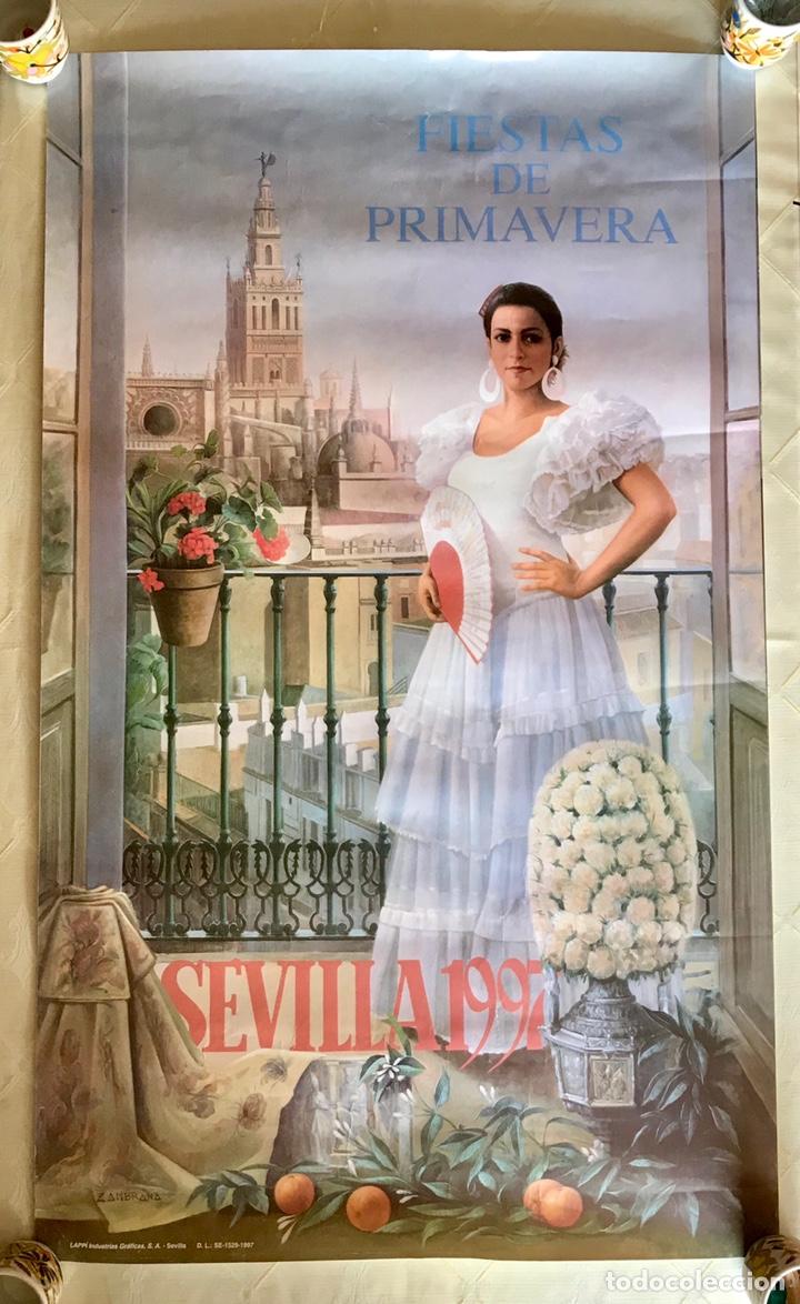 CARTEL DE LAS FIESTAS DE PRIMAVERA DE SEVILLA, 1997 (Coleccionismo - Carteles Gran Formato - Carteles Ferias, Fiestas y Festejos)
