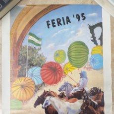 Carteles Feria: CARTEL FERIA DE ALMONTE 1995 MIDE 69X50 CM. Lote 170760458