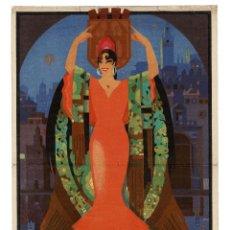 Carteles Feria: CARTEL SEVILLA 1935 FIESTAS PRIMAVERA Y FERIA DE ABRIL , ILUSTRADOR BALCERA.. Lote 171245069
