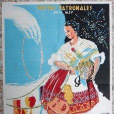 Carteles Feria: CARTEL FERIAS Y FIESTAS VISTABELLA MURCIA MAYO 1957 , LITOGRAFIA , J. MENCHO , ORIGINAL. Lote 171260939