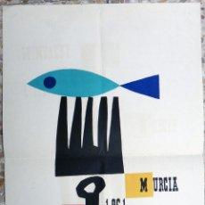 Cartazes Feira: CARTEL FERIAS Y FIESTAS DE LA PRIMAVERA MURCIA 1961 , LITOGRAFIA , ORIGINAL PL. Lote 171261144