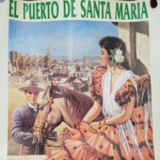 Carteles Feria: CARTEL. PUERTO DE SANTA MARIA. FERIA DE LA PRIMAVERA 1990. MEDIDAS: 68.5 X 50 CM. APROX.. Lote 171365009