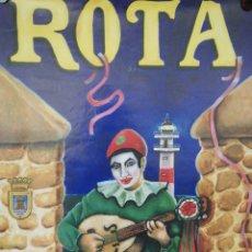 Carteles Feria: CARTEL. ROTA. CARNAVAL 2002. MEDIDAS: 70 X 44.5 CM. APROX.. Lote 171366382