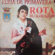 Carteles Feria: CARTEL. ROTA. FERIA DE PRIMAVERA 1997. MEDIDAS: 70 X 40 CM. APROX.. Lote 171366623