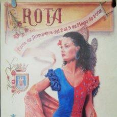Carteles Feria: CARTEL. ROTA. FERIA DE PRIMAVERA 2002. MEDIDAS: 70 X 40 CM. APROX.. Lote 171366707
